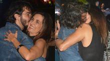 Fátima Bernardes dança forró e troca beijos com namorado em Recife