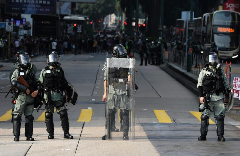 Hong Kong Protesters Defy Ban, Wear Masks During Halloween Standoff With Police