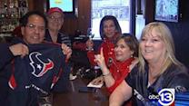 Texans fans brave cold, follow team to Indy