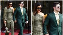 Priyanka Chopra Makes Heads Turn in a Stunning Glittery Olive Jumpsuit on a Double Date in Paris