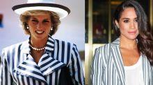 All the Times Meghan Markle Dressed Just Like Princess Diana