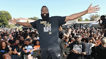On eve of likely MVP, Harden's on home court