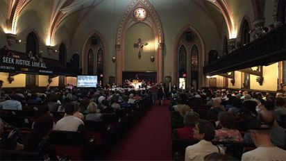 'Philly is Charlottesville' marchers packed inside church