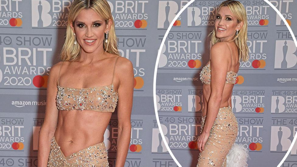 'So sexy': Pussycat Dolls star flaunts 'insane' abs in sheer gown