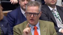 Watch: SNP MP drowned out by cheering Tories hours after plea for Commons 'respect'