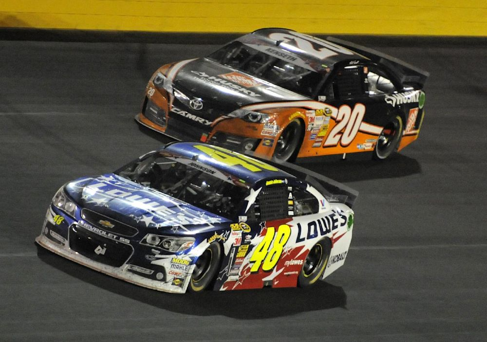 Jimmie Johnson's title defense is on after win