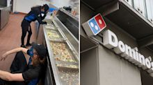 Domino's sell weekend's worth of food in exhausting 4 hour rush