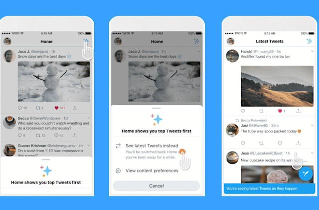 Twitter's chronological timeline button is here to stay