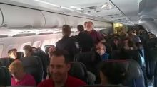 Air passenger tries to open emergency exit door