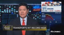 Transports hit record high