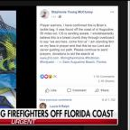 Sister of firefighter missing off Florida coast says her brother is alive, leaving clues to help authorities
