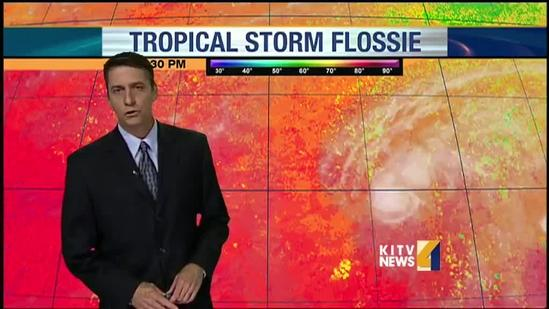 Some conditions may help to weaken Flossie