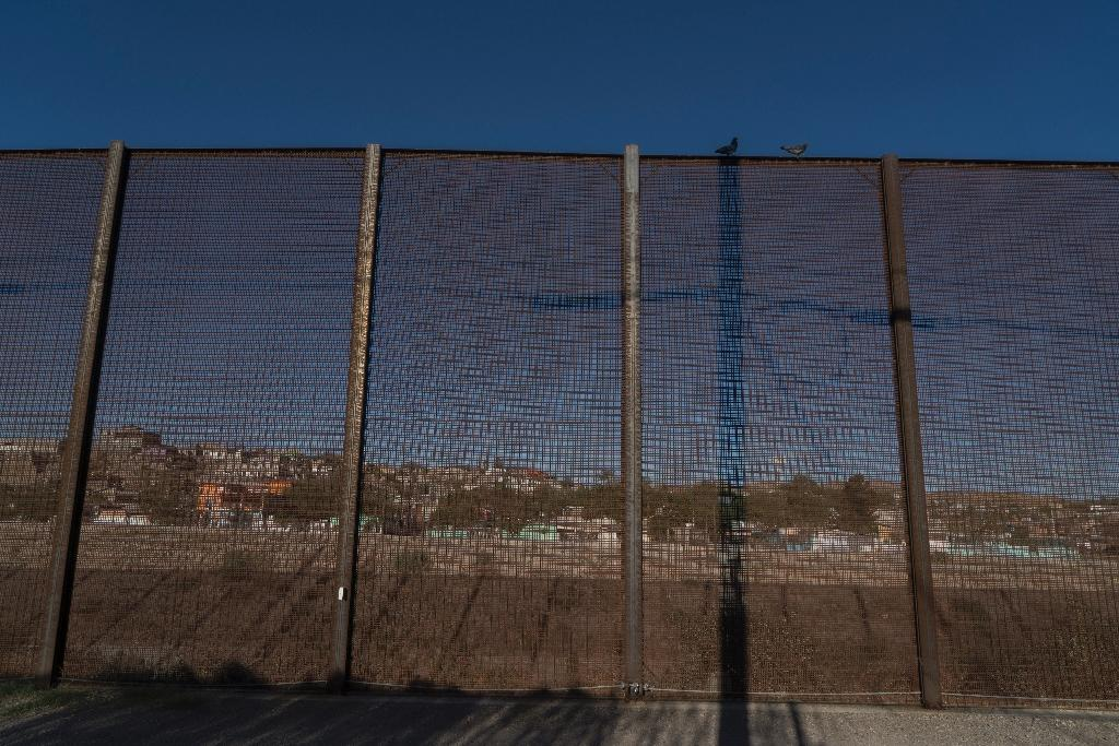 The existing US-Mexico border fence near downtown El Paso, Texas, is being replaced under President Donald Trump's border wall program