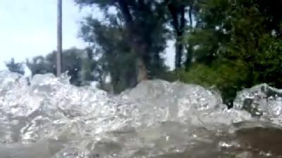 RAW VIDEO: Driving Through Floodwaters