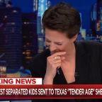 Rachel Maddow breaks into tears over 'tender age' shelters
