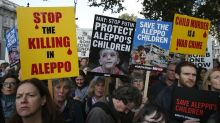 Rally urges Britain to find solution in Syria