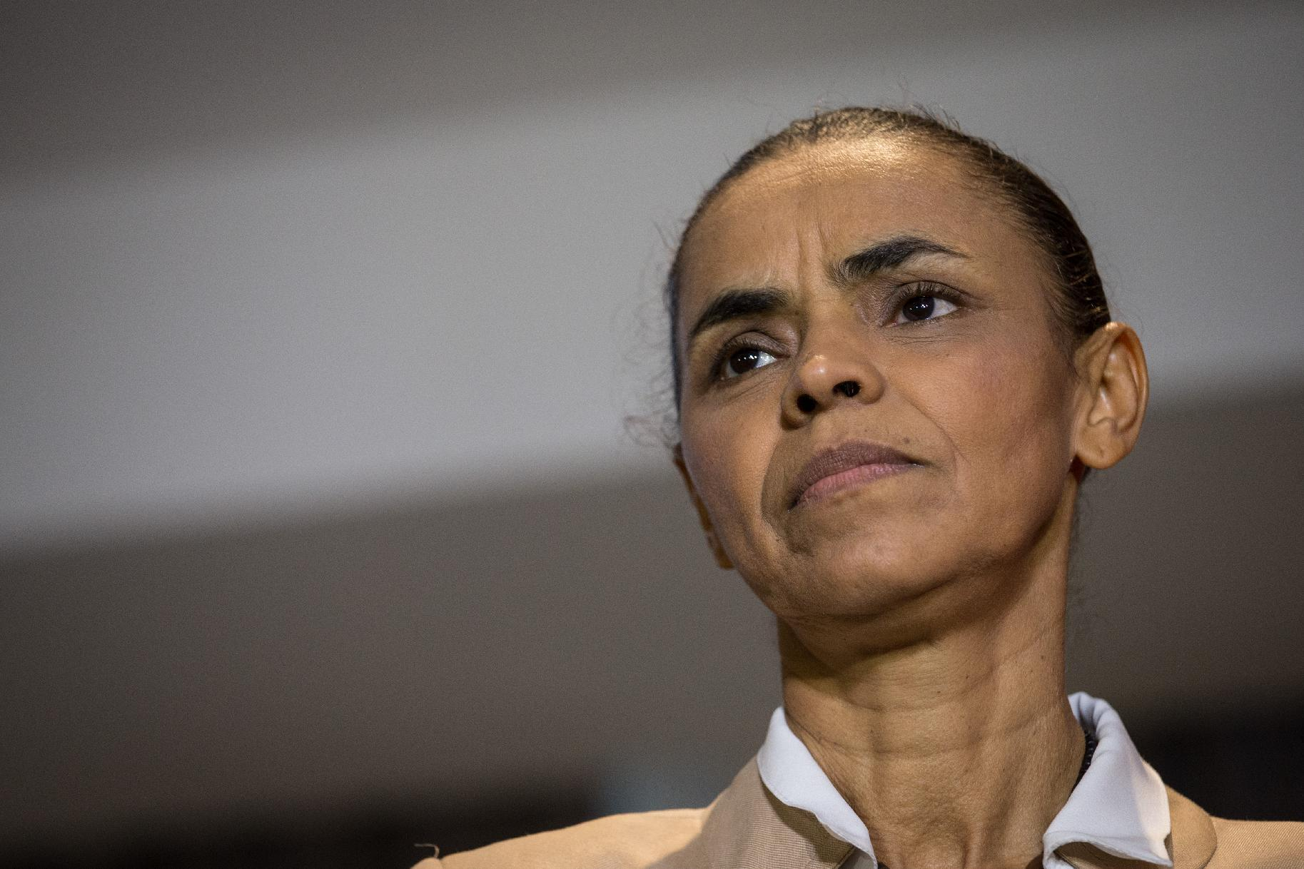 Brazil's presidential candidate for the Brazilian Socialist Party, Marina Silva, speaks during a press conference in Rio de Janeiro, Brazil, on September 17, 2014 (AFP Photo/Yasuyoshi Chiba)