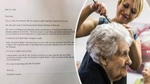 Hairdresser stunned by anonymous note from customer