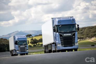 預見5G無限潛能 卡車排隊向前走
