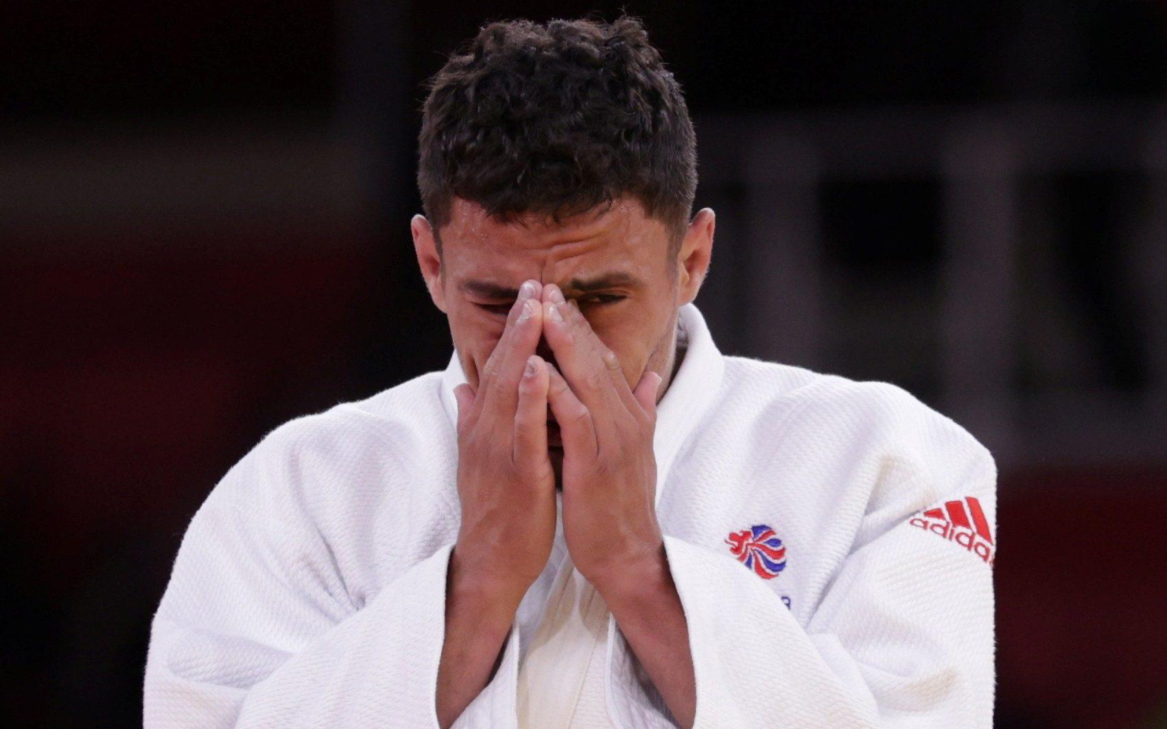 'I just want to go home': Britain's judo bad boy and reality TV star cries as Olympics lasts four minutes