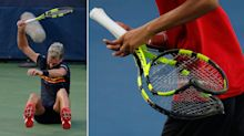 See the moment tennis star smashed three rackets in crazy on-court meltdown