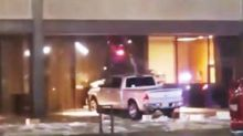 Man arrested after repeatedly crashing truck into Texas TV station: media