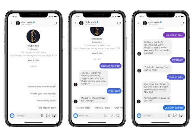 Customer service chats are coming to Instagram DMs
