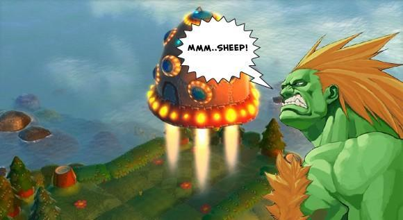 Blanka makes a cameo in Flock