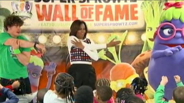 Michelle Obama Puts Nutrition Center Stage