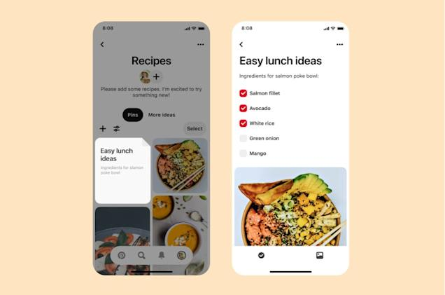 Pinterest's new features take the pain out of activity planning