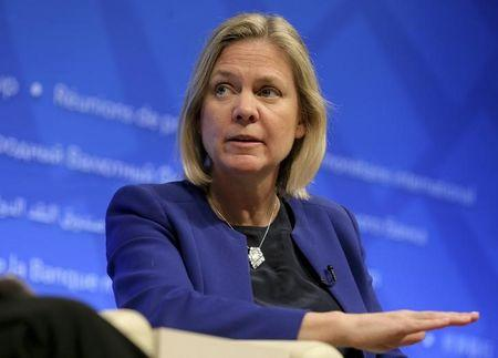 Swedish Minister of Finance Magdalena Andersson speaks about strengthening global tax policy at the 2016 IMF World Bank Spring Meeting in Washington