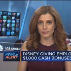 Disney giving 125,000 employees $1,000 cash bonuses