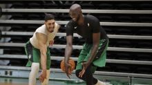 Tacko Fall gets swimming lessons from Enes Kanter, Jaylen Brown in NBA bubble