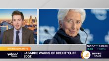 Lagarde warns of Brexit 'cliff edge'