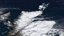 Incredible picture from space shows Scotland covered in snow as temperatures plunge to -23C
