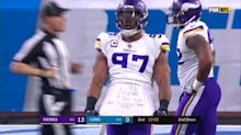 Everson Griffen gets a sack, celebrates by crowdsourcing his new baby's name