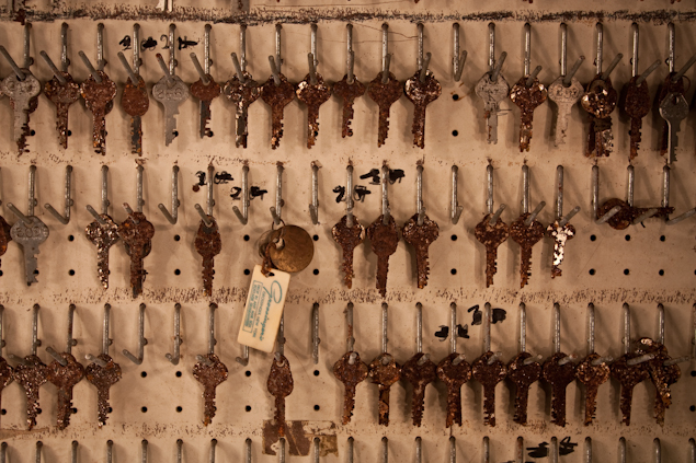 Rows of intricate room keys have rusted over the years, but are still preserved in time. (Photo: Jonathan Haeber/Flickr, www.terrastories.com/grossingers)