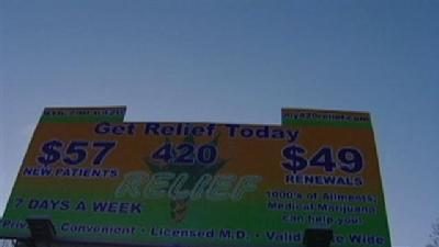 Billboard For Medical Pot Sparks Controversy
