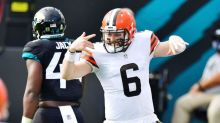 Browns stop Jaguars' two-point conversion to hold on for 27-25 win