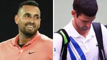Nick Kyrgios' sarcastic dig at Novak Djokovic after US Open drama