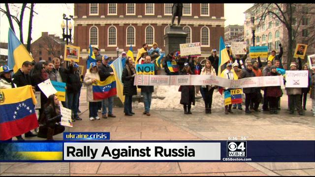 Concerned Boston- Area Ukrainians Express Support For Homeland