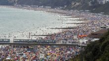 Beaches crowded on hottest day of the year