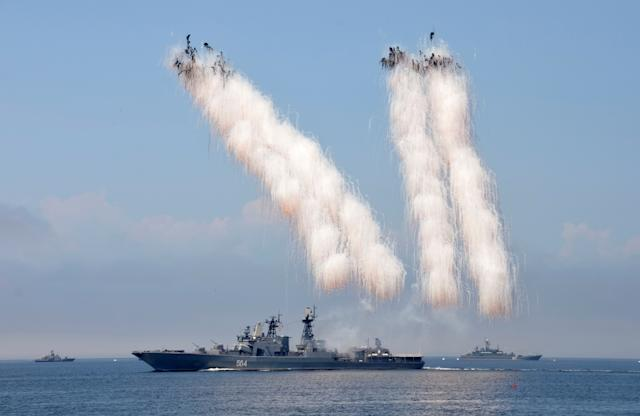 Russia Navy warship missile