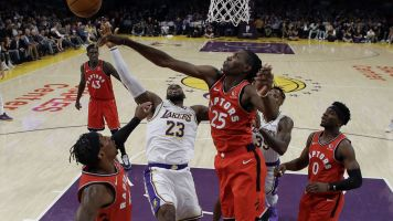 Raptors throw cold water on LeBron, Lakers