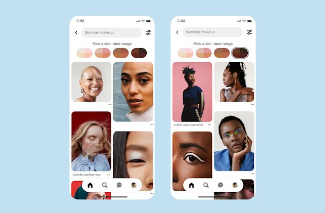 Pinterest says its skin tone searches are now more accurate