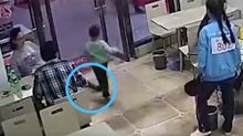 Boy suffers concussion after 'annoyed' pregnant woman trips him up