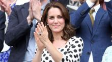 Kate Middleton Looks Perfect in Polka Dots at Wimbledon, Chats With 'Preacher' Star Dominic Cooper