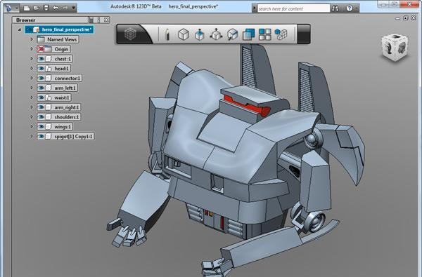 Autodesk 123D solid modeling software hits beta, hobbyists cheer $0.00 pricetag