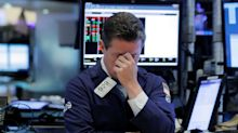 Dow erases gains, tech shares tumble