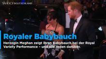 Royaler Babybauch auf Tour! Herzogin Meghan zeigt bei der Royal Variety Performance wachsenden Bauch